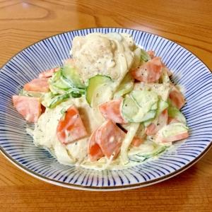 ポリ袋で湯せん調理 ♪鶏ムネ肉のチキンサラダ♪