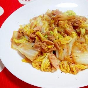 白菜とツナの炒め物