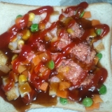 丸天野菜トースト