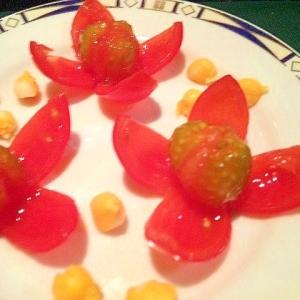 【簡単デコ・パーティー】フラワートマト トマトの花