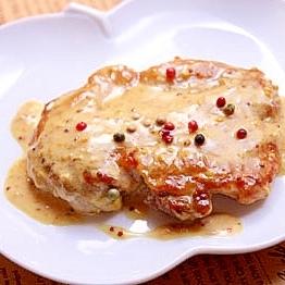 生クリーム仕立ての鶏肉のマスタードソース