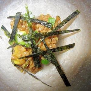 ひき割り葱炒め納豆