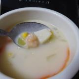 スライス人参のクリームスープ