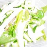 大根と舞茸とクレソンと胡瓜の豆塩麹サラダ