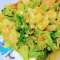 海老と野菜のカレー炒め