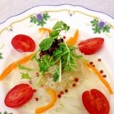 鯛の柚子胡椒カルパッチョ