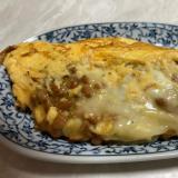 夕食のメインにもなるよ。納豆チーズオムレツ