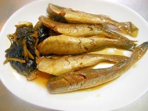 圧力鍋で骨まで食べよう~氷下魚と昆布煮つけ