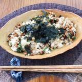 韓国海苔✖️納豆チャーハン