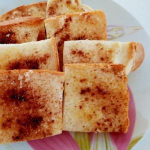 冷凍食パンからシナモンラスク