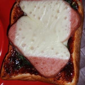 スパムのハニマスケチャソーストースト