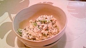 ゴーヤの白和え風、紫蘇の実佃煮風味