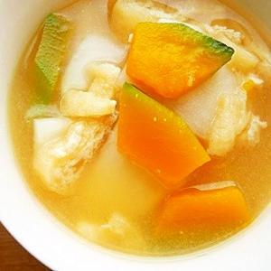 かぼちゃとかぶの味噌汁
