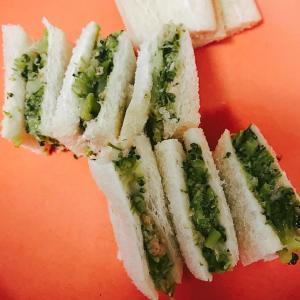 離乳食に!ブロッコリーツナのサンドイッチ!