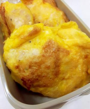 お弁当に(^^)鶏むね肉のシンプルピカタ♪