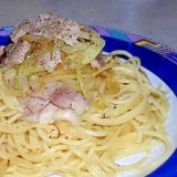 パンチェッタと玉ねぎのスパゲッティ