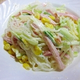 きゅうり+ハムで春雨サラダ
