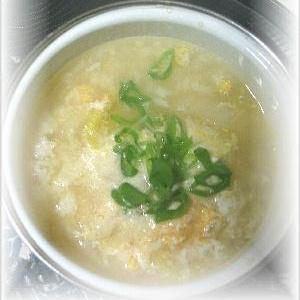 【白菜と卵の雑炊】