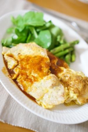 簡単美味♡生姜焼き用肉deピカタ