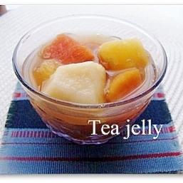 果物たっぷり☆紅茶のフルーツゼリー