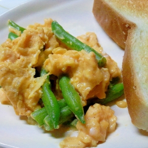 いんげん炒り卵++