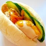 白パンで♪ 味玉・きゅうりの和風サンド