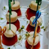 誰でも簡単♪ わが家のトマト&チーズのピンチョス