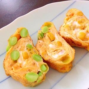 幼児食☆枝豆とコーンの卵焼き