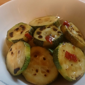 ズッキーニの焼きマリネ~カレー風味~