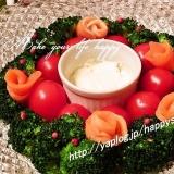チーズディップ・クリスマス☆リースサラダ