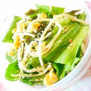 ❤レタスと韓国海苔と炒り卵のパスタ・サラダ❤