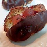 苺ジャムとピーチグミと紅茶のエクレア