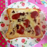 しぐれ煮のピザトースト