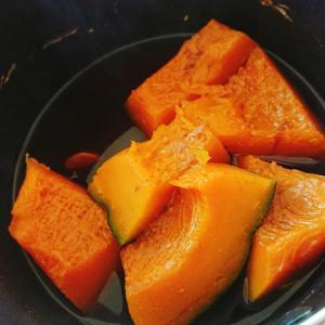 蒲焼きのタレでかぼちゃ煮物