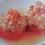トマトのひき肉詰め煮