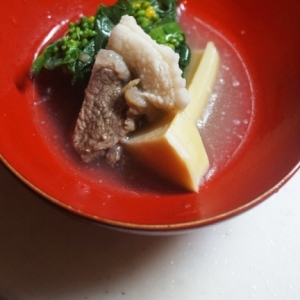 【高知食材】猪と筍の炊き合わせ