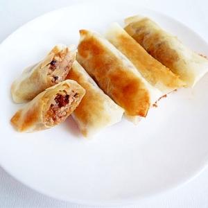 簡単&シンプル 挽肉で春巻