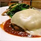 濃厚とろける✿赤味噌トマトソースのチーズハンバーグ