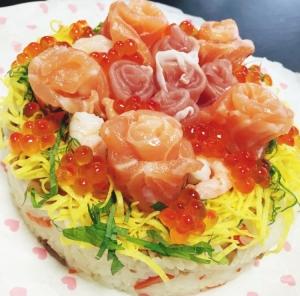 華やか☆チラシ寿司ケーキ