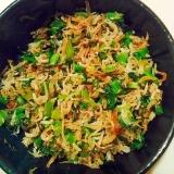 大根の葉とシラス炒め