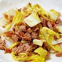白菜とツナのカラッと炒め☆