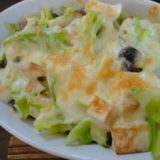 栄養たっぷり★キャベツときのこはんぺんチーズ焼き