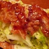 ピリ辛カリカリ☆豚バラと白菜のサラダ