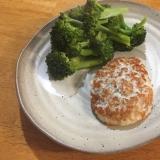 里芋と鶏ミンチで作るあっさりハンバーグ