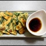 豆腐とニラとソボロのチヂミ