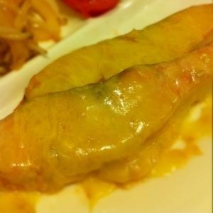 鮭のミソマヨチー焼