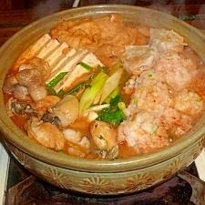 エビダンゴ入りキムチ鍋2