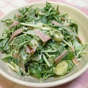 水菜のポテトサラダ♪
