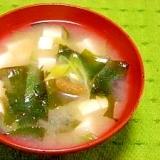 毎日のお味噌汁76杯目*柚子胡椒、ワカメ、豆腐