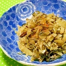 リメイク!沢庵漬と青菜漬(高菜)の炒め物